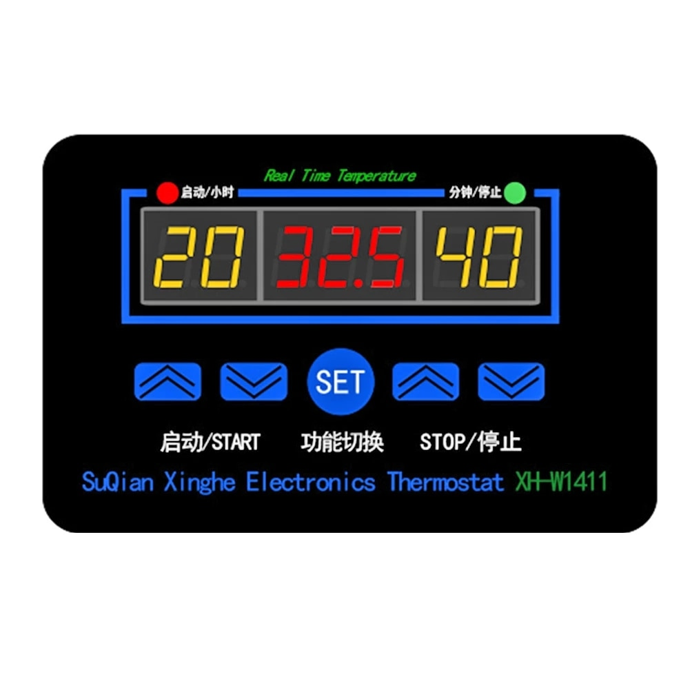 Умный регулятор температуры, цифровой светодиодный термостат, постоянный ток 12 В, переменный ток 110 В, 220 В, 10 А