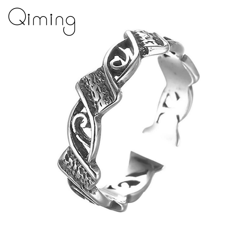 Joyería de moda estilo Punk anillo ajustable geométrico anillo de compromiso anillo de boda para Mujeres Hombres regalo de Navidad