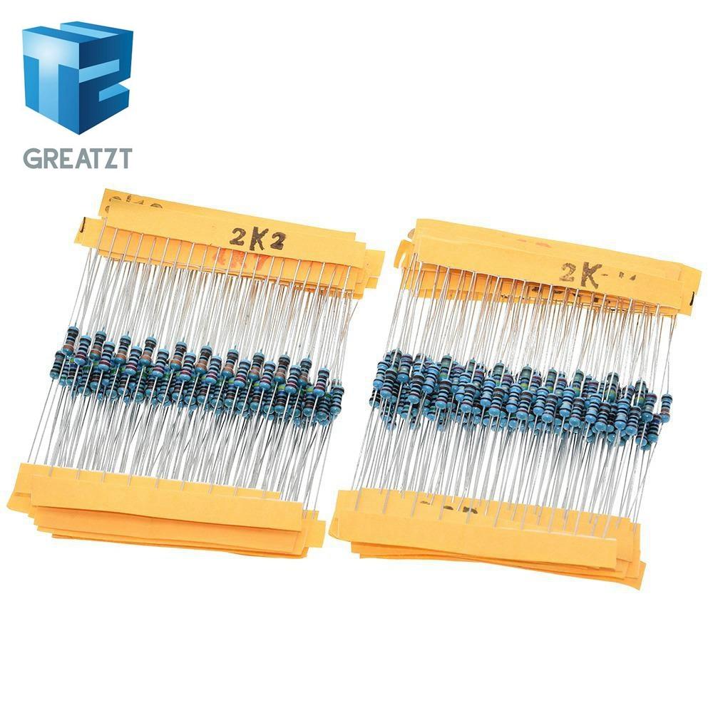 GREATZT 1 paquete 300 Uds 10 -1M Ohm 1/4w resistencia 1% Kit surtido de resistencias de película metálica juego de 30 tipos cada 10 Uds