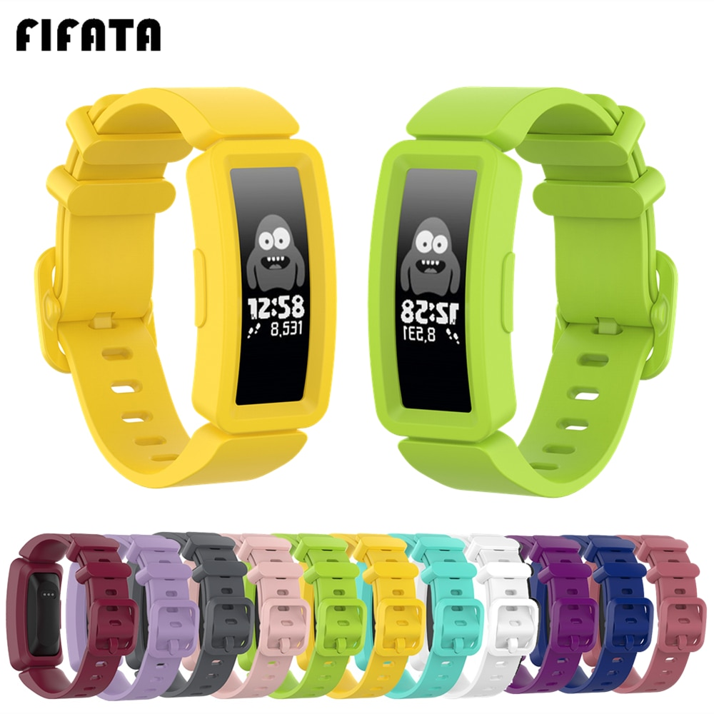 FIFATA Wrist Strap For Fitbit Ace 2 Kids Smart Watch Band Soft Silicone Strap For Fitbit inspire/Ins
