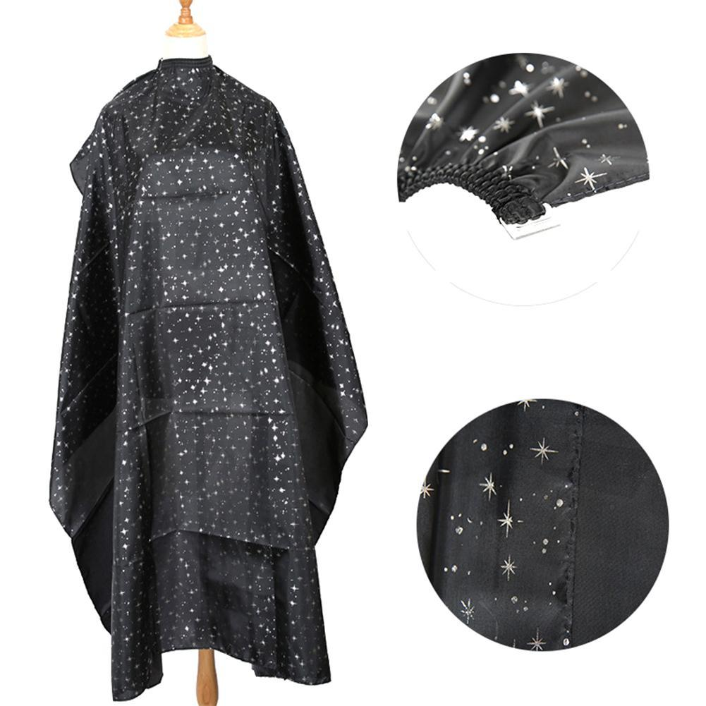 Star Print Adults Home Salon Pro Hairdressing Cloth Apron Hair Cutting Gown Cape Adult Salon Waterproof Hair Cloth
