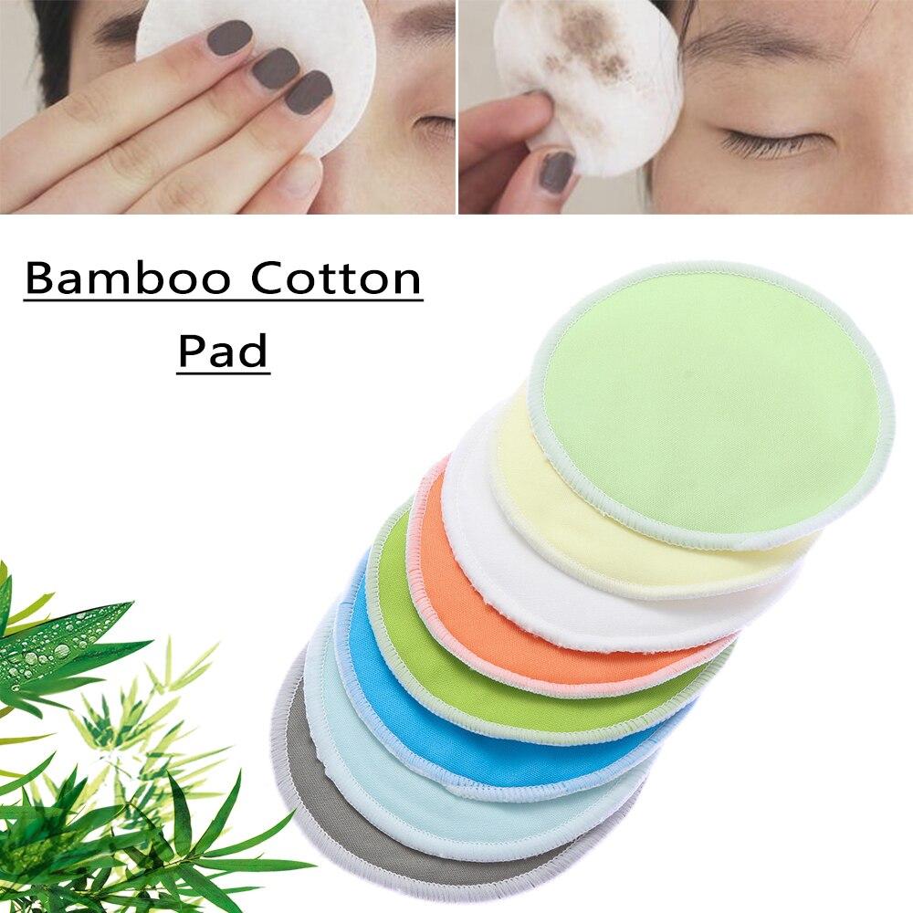 Paño de bambú reutilizable almohadillas faciales reutilizables ronda de algodón Facial lavable paño de limpieza Facial para maquillaje de ojos eliminar toallitas faciales
