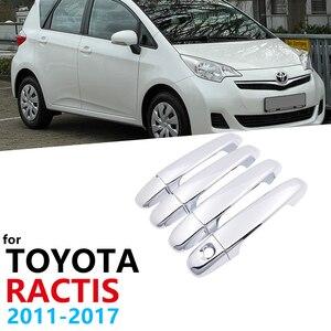 Для Toyota Ractis Verso-S Space Verso Subaru Trezia XP120 MK2 2011 ~ 2017 автомобильные хромированные 4 дверные ручки из АБС-пластика накладные наклейки 2012