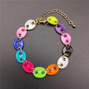 5Pcs Multi Colors Pig Nose Bracelets Fashion Jewelry For Women