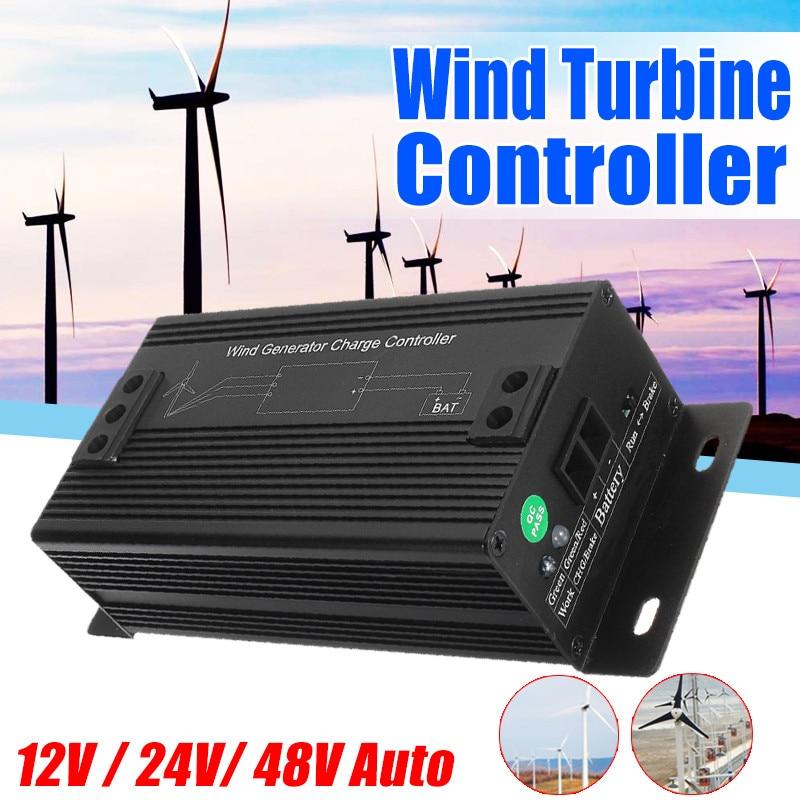 مولد طاقة الرياح الأوتوماتيكي ، 12 فولت/24 فولت/48 فولت ، منظم التحكم في الشحن ، معدل
