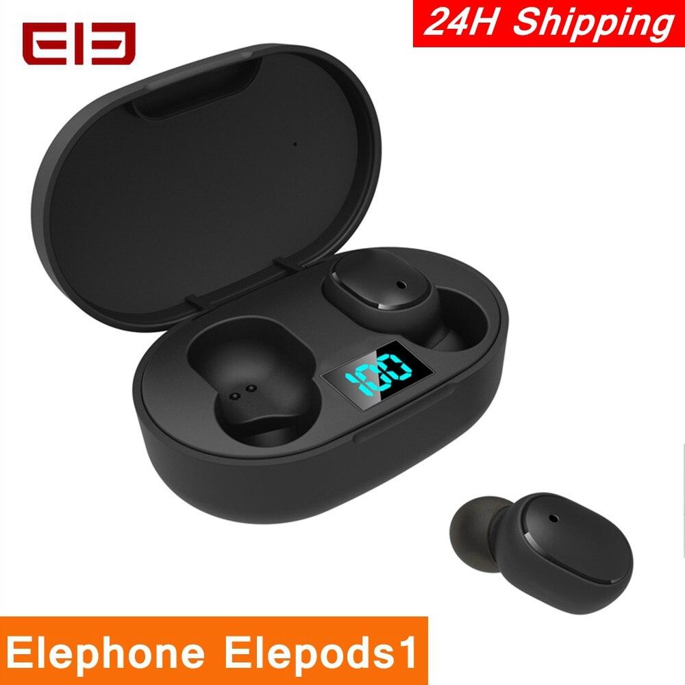 Elephone elepods 1 tws led ディスプレイワイヤレス bluetooth イヤホンステレオハンズフリー通話ノイズ除去ボタン低遅延ゲーミングヘッドセット