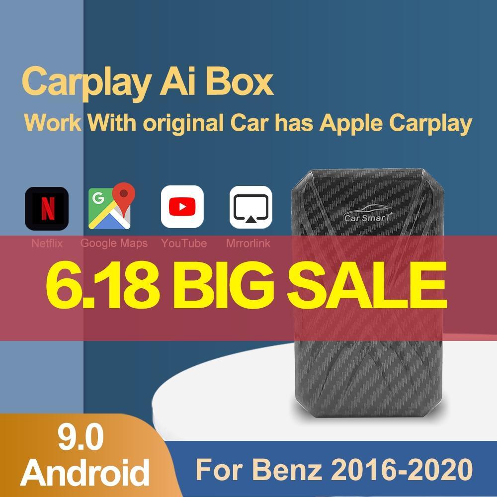 Carplay Ai box автомобильный мультимедийный плеер для USB Smart Ai Android System Беспроводное устройство навигации для ТВ-плеер