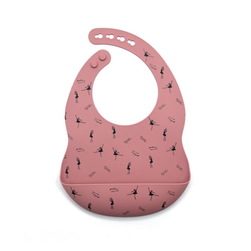 Силиконовый Слюнявчик с принтом для новорожденных, аксессуары для кормления новорожденных, регулируемый слюнявчик, слюнявчик, посуда для к...