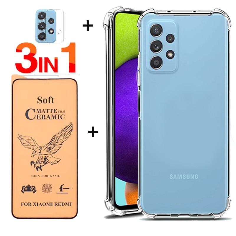 Sansung Galaxy A52 силиконовый чехол на Sansung A 52 Металл кольцо чехлы galaxia A52 4G 5G противоударный чехол самсунг а52