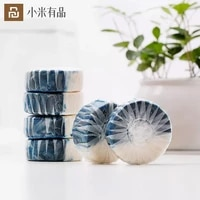 youpin toilet cleaner 40g dual effect automatic magic blue bubble household bathroom quick toilet block green fragrant portable