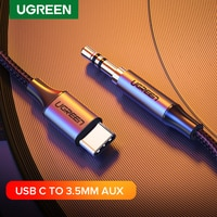 Ugreen USB C к 3,5 мм AUX Наушники Тип C 3,5 разъем адаптер аудио кабель для Huawei Mate 20 P30 Oneplus 7 pro Xiaomi Mi 6 8 9 10