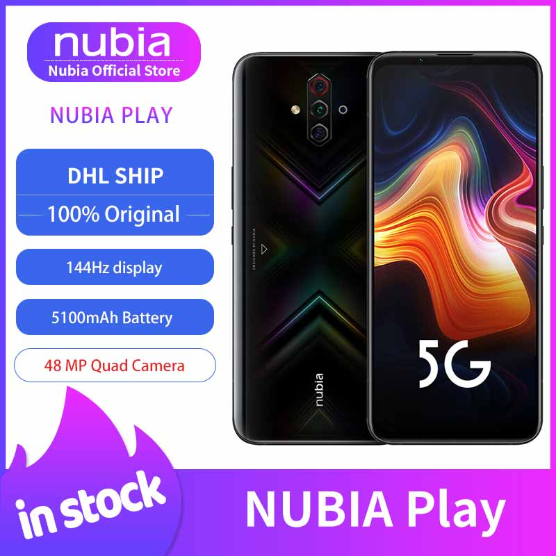 "Original Nubia jugar 5G teléfono móvil 6,65 ""AMOLED 144Hz pantalla Snapdragon 765G banda Dual 30W PD cargador rápido 48MP Quad cámaras"
