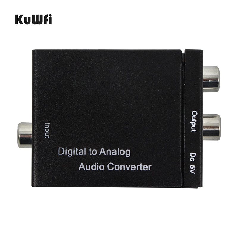 KuWFi-Adaptador convertidor Digital a de Audio analógico, Adaptador Digital Coaxial, RCA, Toslink,...