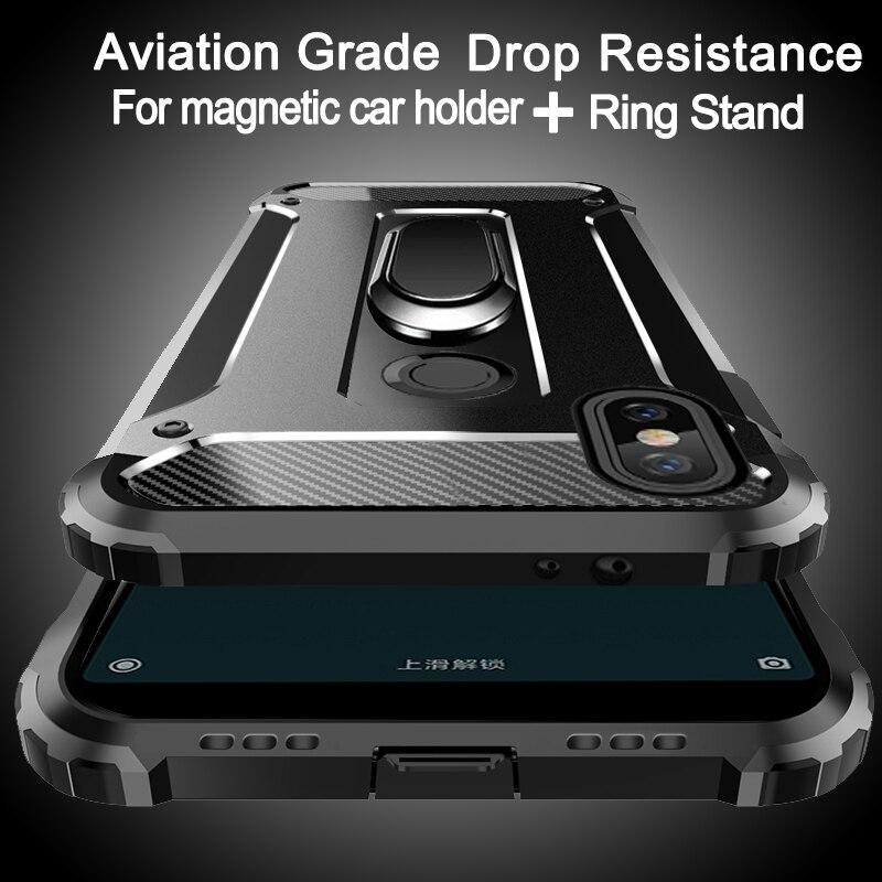 Aviação à prova de choque anel suporte caso do telefone para xiaomi 9 8 se 8 lite 6x 6 plus 5x 5S plus 5c a2 f1 note 2 mix 3 2s max 3 2 caso