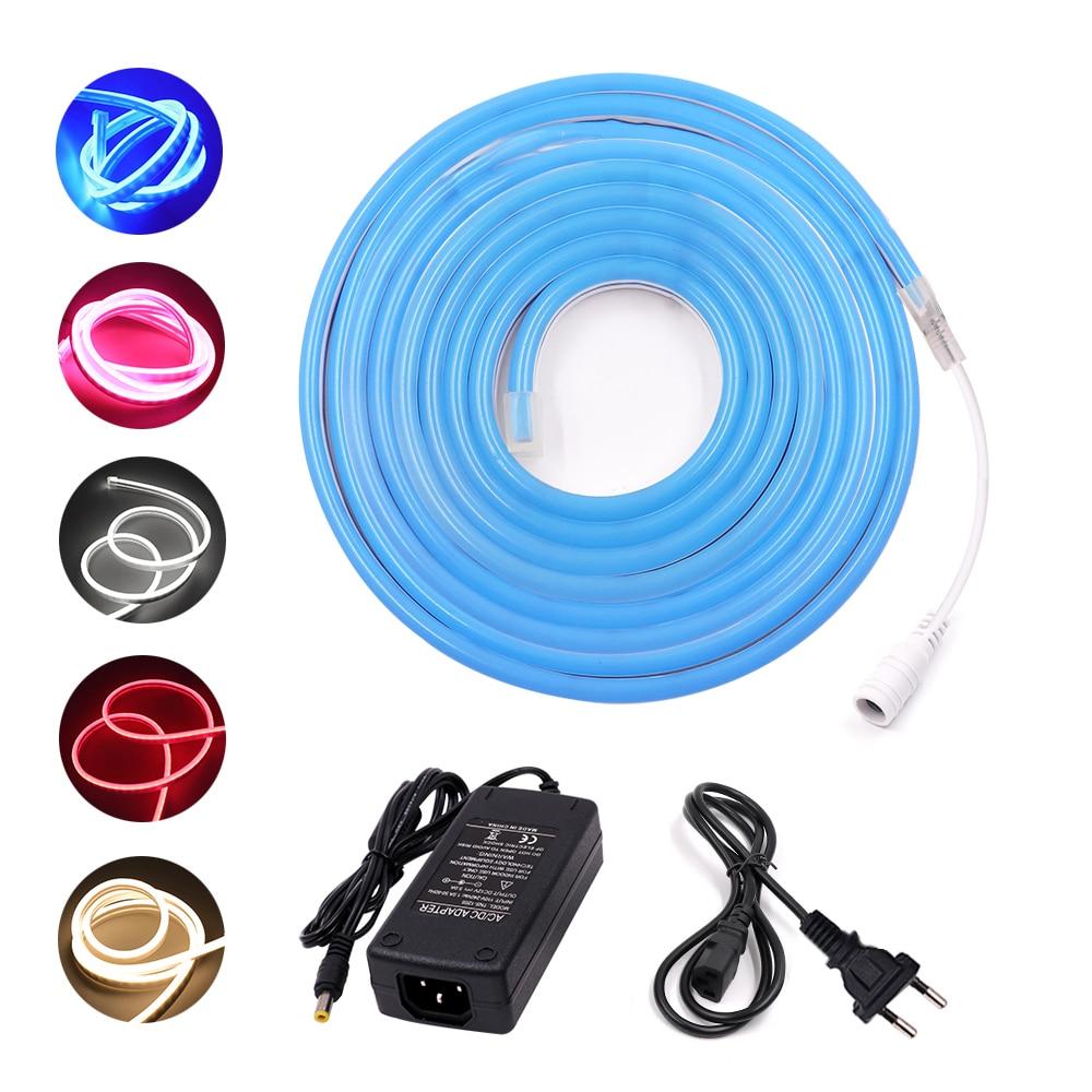 DC 12V LED Strip Neon Rope Light 2835 120leds/m 6mm Neon flex Waterproof Flexible Neon Light DIY Neon sign lights 1m 2m 3m 5m