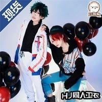 2020 anime boku no academia paro todoroki shoto sweaterpantshat uniform cospaly student handsome daily outfit popular costume