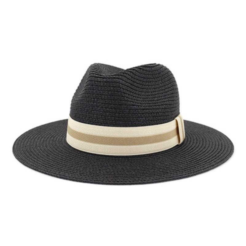 Sombreros de Panamá para hombre y mujer, sombrero de paja con cinturón,...