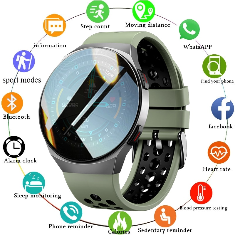 2021 New Bluetooth Call Smart Watch Men 8G Memory Card Music Player smartwatch For Android ios Phone