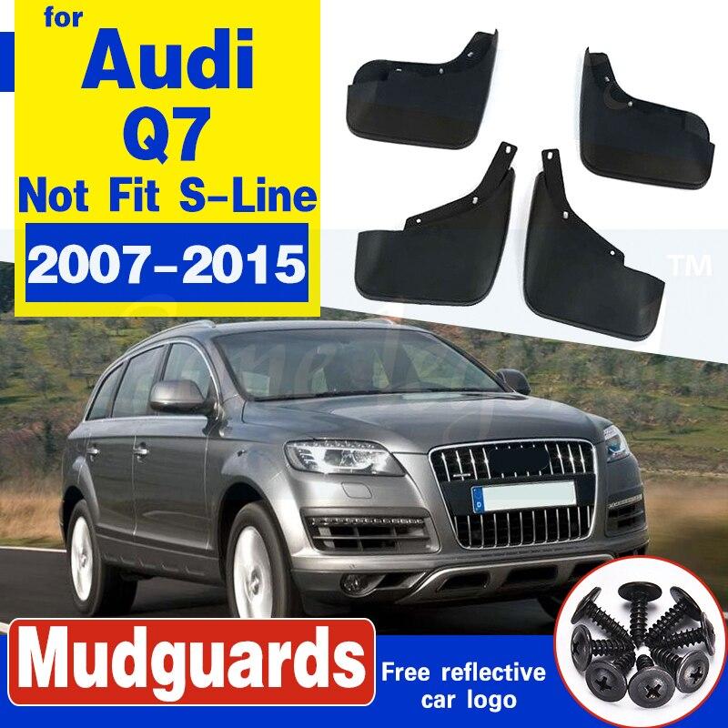 Ajuste para AUDI Q7 2007, 2008, 2009, 2010, 2011, 2012, 2013-2015 MUDFLAPS barro guardabarros guardia guardabarros 4 Uds conjunto de accesorios
