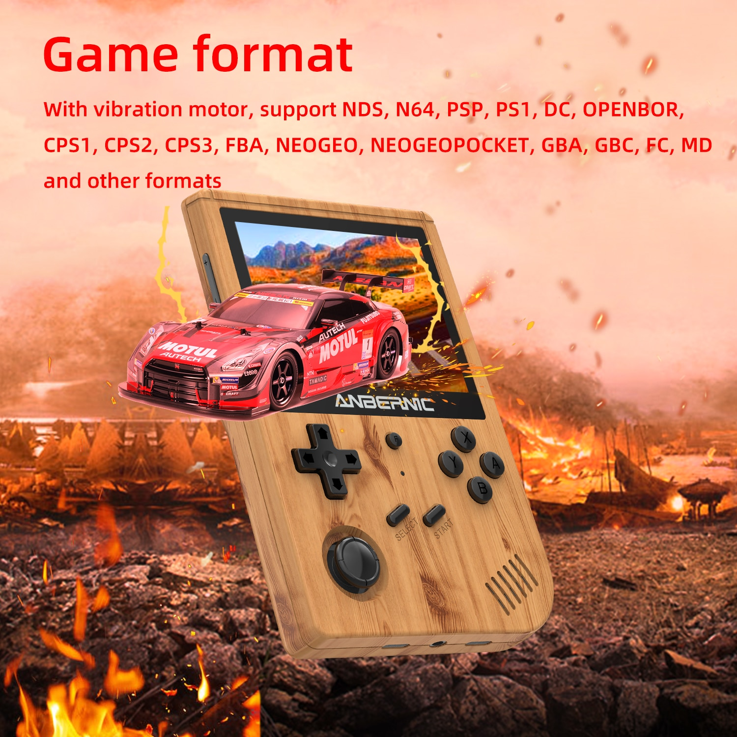 ANBERNIC New RG351V Retro Games Built-in 16G RK3326 Open Source 3.5 INCH 640*480 handheld game console Emulator For PS1 kid 256G enlarge