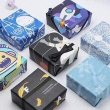 2 pièces papier demballage 2020 Design Original galaxie Pirate espace emballage cadeau Artware papier demballage papier vélin papier Origami 50*70cm