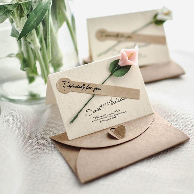 Авторские свежие розы, сушеные цветы, поздравительные открытки на день рождения, Рождество, Tarjeta, День Святого Валентина, «сделай сам», винта...