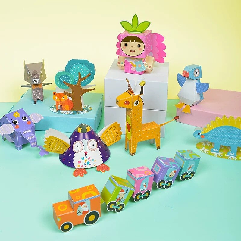 Kids Puzzle Toys Puzzle 3D Puzzle Jigsaw for Children Baby Cartoon Animal Puzzles Educational Learni