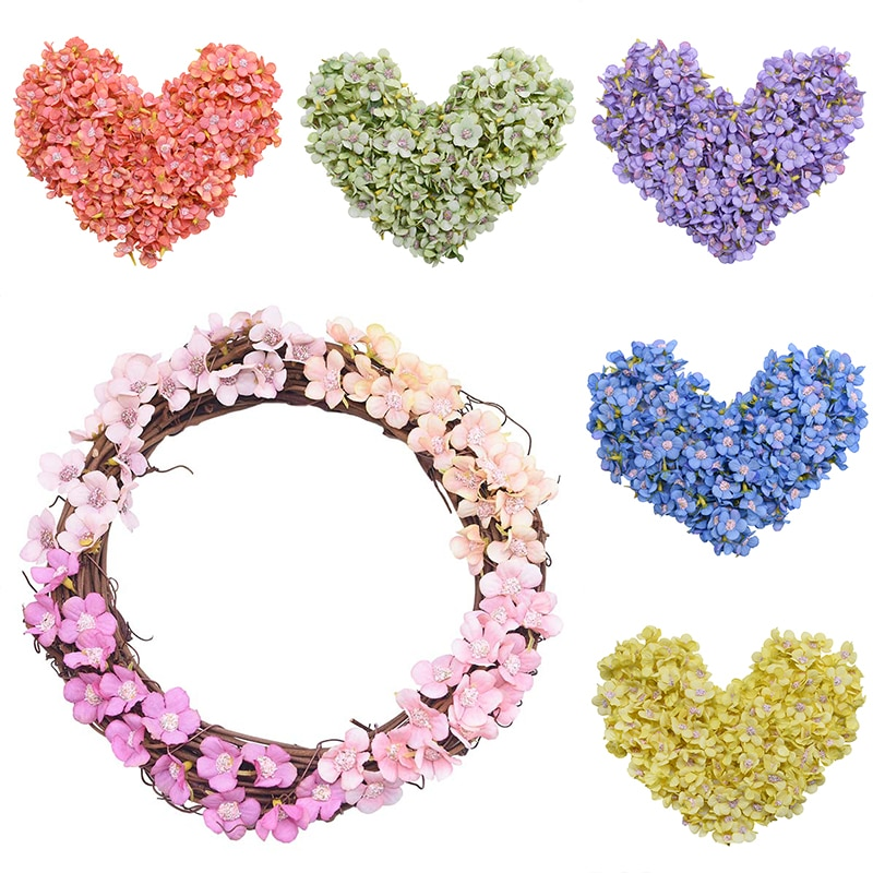 50/100 pcs Mini Artificial Daisy Flower Head Home Wedding Decor DIY Wreath Garland Accessories Scrapbooking Craft Fake Flowers