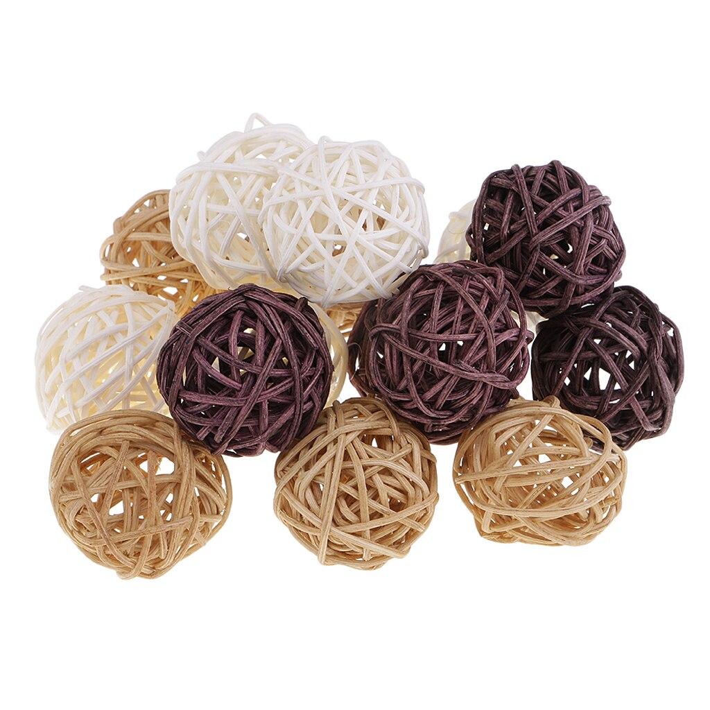 Смешанные плетеные шарики из ротанга-декоративные шарики для чаш, Ваза Наполнитель, журнальный столик декор, украшения для свадебной вечеринки