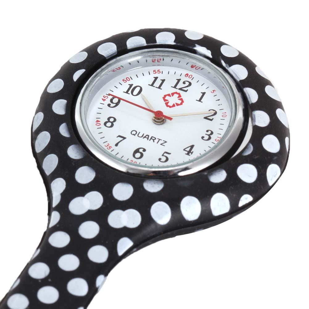 Nurse Watches Printed Style Clip-on Fob Brooch Pendant Pocket Hanging Doctor Nurses Medical Quartz W