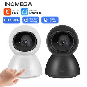 INQMEGA 1080P HD 2MP Indoor Tuya Smart Wifi Two way audio IR Cam Indoor One Key Calling Camera Indoor Smart Home Security Camera
