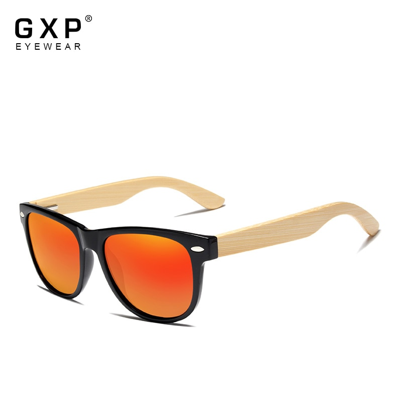 GXP Original Men's Polarized Bamboo Sunglasses Women Wooden Sun glasses Men Brand Wood Glasses Oculo