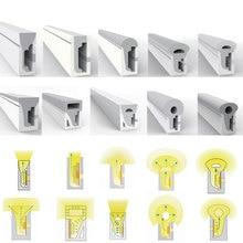 1m 2m 3m 4m 5m LED néon corde Tube Gel de silice Flexible bande lumière doux lampe Tube pour WS2812B SK6812 5050 WS2811 Led bande