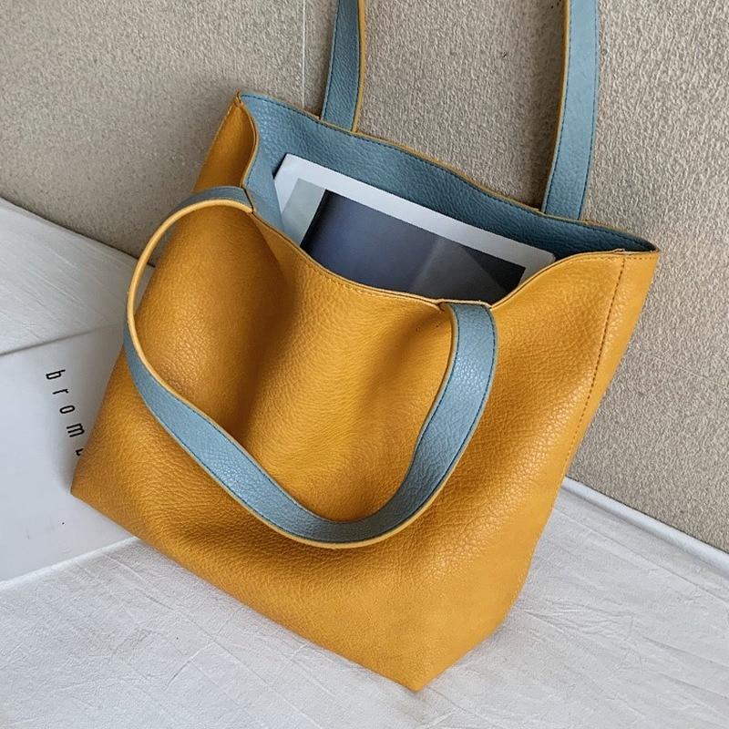Luxury fashion ladies handbag 2020 new high quality large capacity shoulder bag versatile double-sided tote bag underarm bag