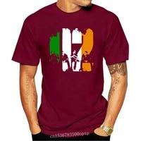 new u2 logo in irish flag base mens black t shirt size s to 3xl tee shirt harajuku men tops