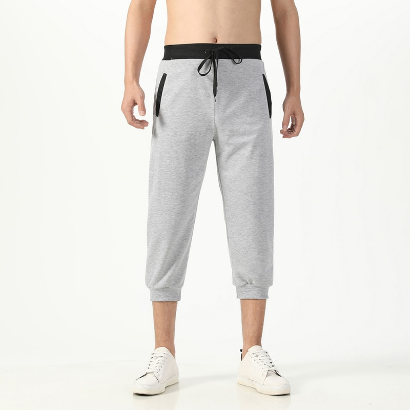 Men's Casual Long Length Cargo Shorts Multi Pocket Cotton Hot Breeches Capri Pants Tactical Military Shorts Cropped Trousers 5XL