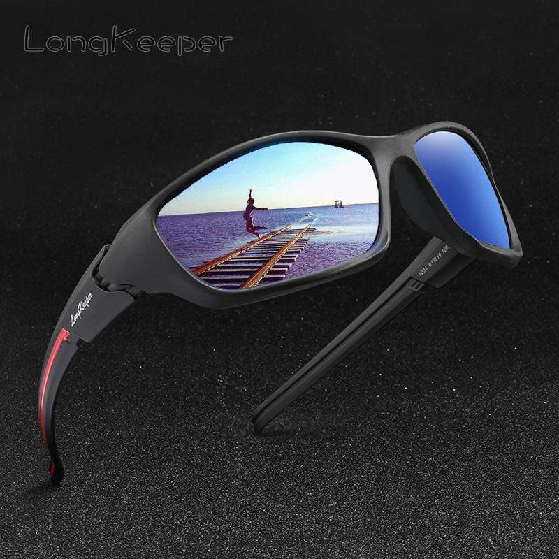 Miroir classique lunettes De soleil polarisées hommes femmes conduite Sport lunettes De soleil marque Design Gafas De Sol avec Logo Longkeeper UV400