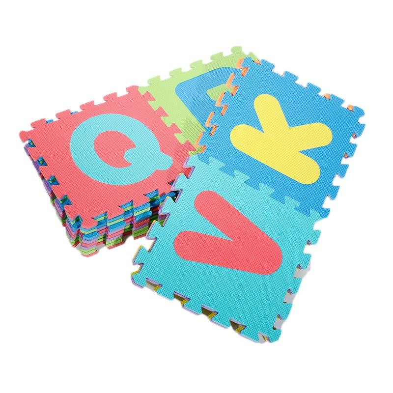 الألغاز والمكعبات أحدث 36 قطعة/المجموعة إيفا الأطفال سجادة إسفنجية لغز الكلمة السجاد للأطفال المتشابكة ممارسة البلاط
