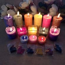 8-10g de vela hecho a mano Material 10 DE VELA con pigmento colorante Material de velas DIY tinte vela pinturas para vela de cera de soja de aceite