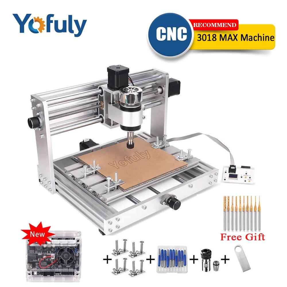 CNC 3018pro MAX grabador GRBL Control con husillo de 200 w, fresadora PCB de 3 ejes, enrutador de madera DIY láser de 15w de gran potencia