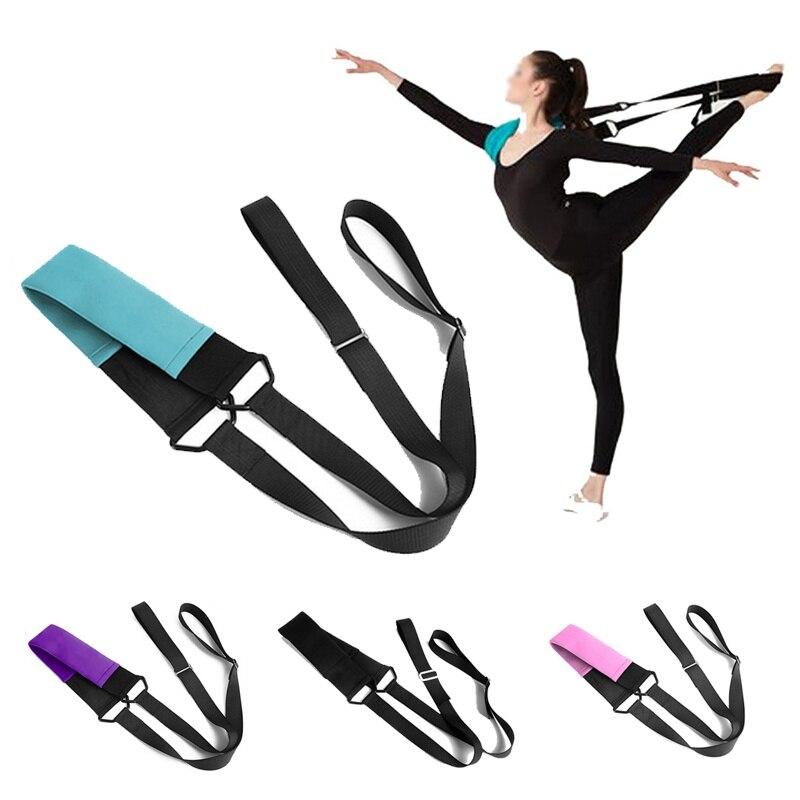 Bandas de Yoga para mujer, entrenamiento de baile, correa de tensión, cinturón de estiramiento para chicas, banda para ballet, Yoga, fitness, banda de resistencia deportiva 1
