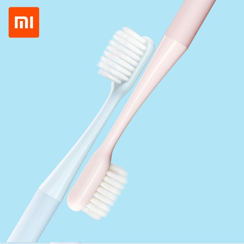 Original XIAOMI MIJIA Superfine escova de Dentes de Cerdas Macias escova de Dentes Escova De Dentes para Adultos À Prova D Água 2 Cores