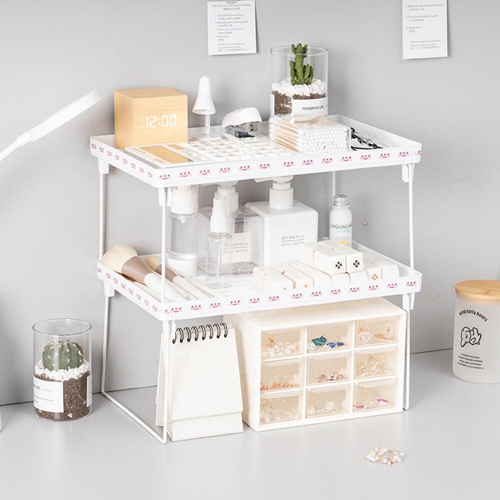 Стеллаж для стеллажа для кухни, настольные полки для шкафа, держатель для шкафа, органайзер для косметики, кухонные аксессуары