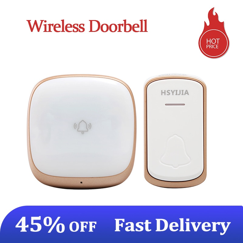 Wireless Doorbell Strong Flashing Home Smart Long-Distance Deurbel Intelligent Ringbell Sound With H