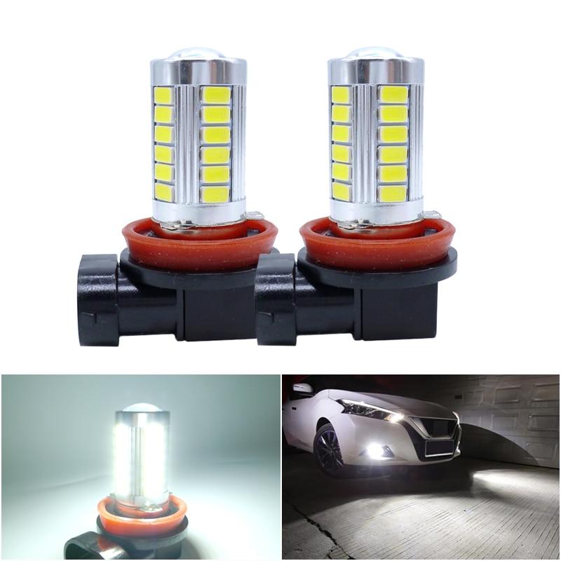 2x H11 H7 H8 9005 HB3 9006 HB4 Car LED Fog Light Bulbs Day Running Light Driving Lamp White Ice Blue For Kia Sportage Ceed Rio 3