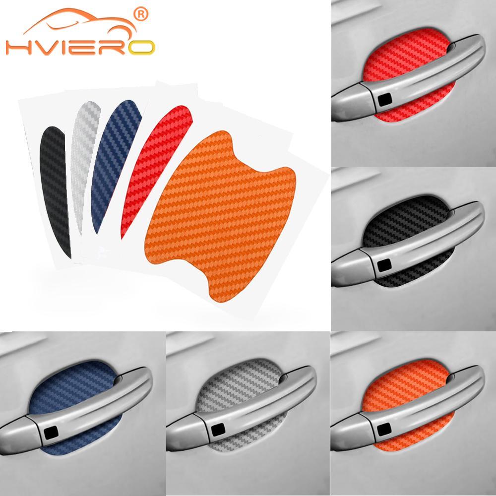 4 шт., автомобильная защитная плёнка из углеродного волокна