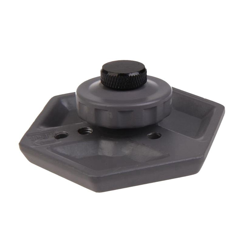 Placa Hexagonal de liberación rápida de repuesto con tornillo de 1/4 pulgadas-20 para cámara negra