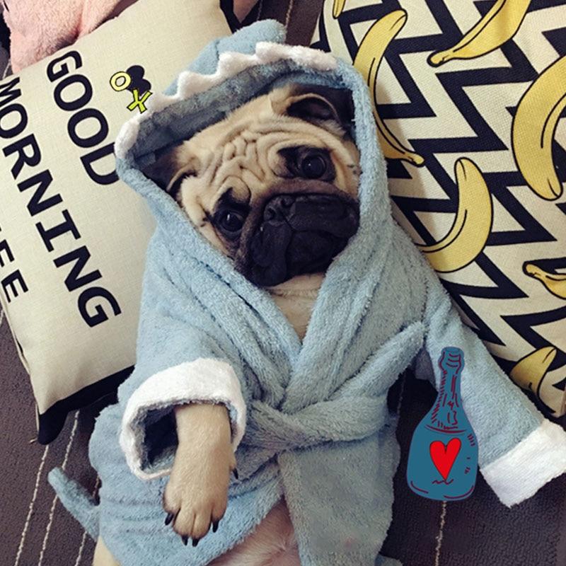 Pijamas de inverno para cães, roupão de banho para cachorros e gatos, roupão para animais de estimação, chihuahua, roupão para animais de estimação geral