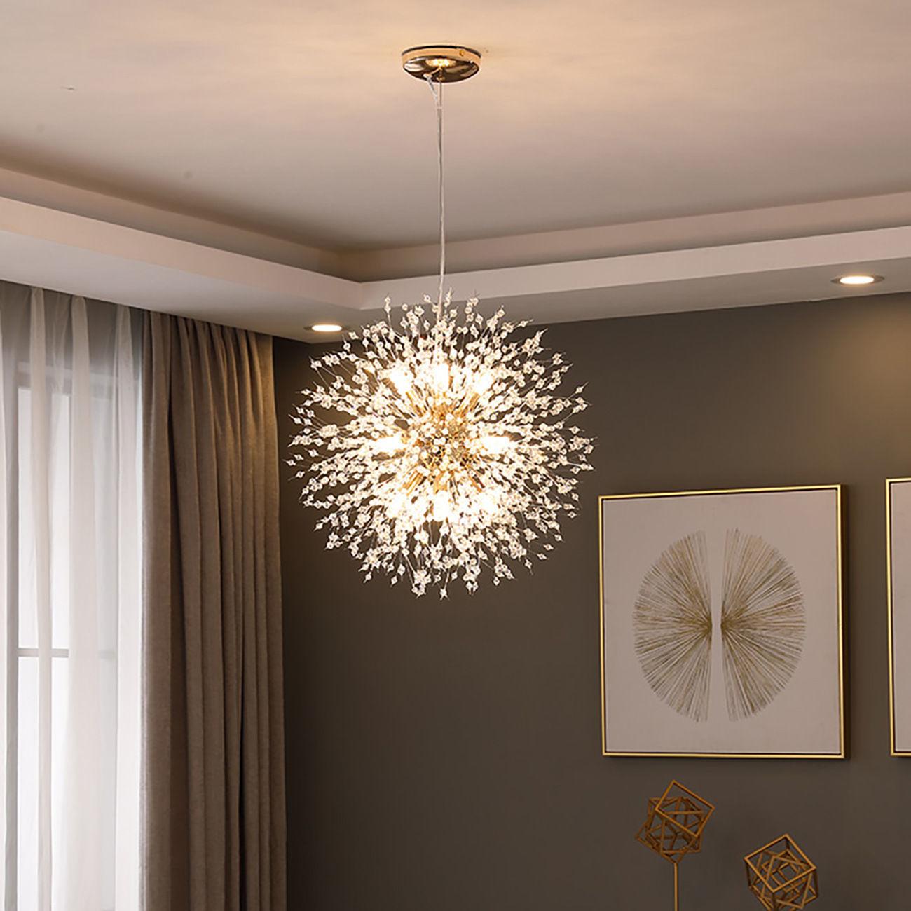 Лампа для спальни, простая современная хрустальная люстра, постмодерн, гостиная, скандинавский торговый центр, магазин одежды, лампы для ре...