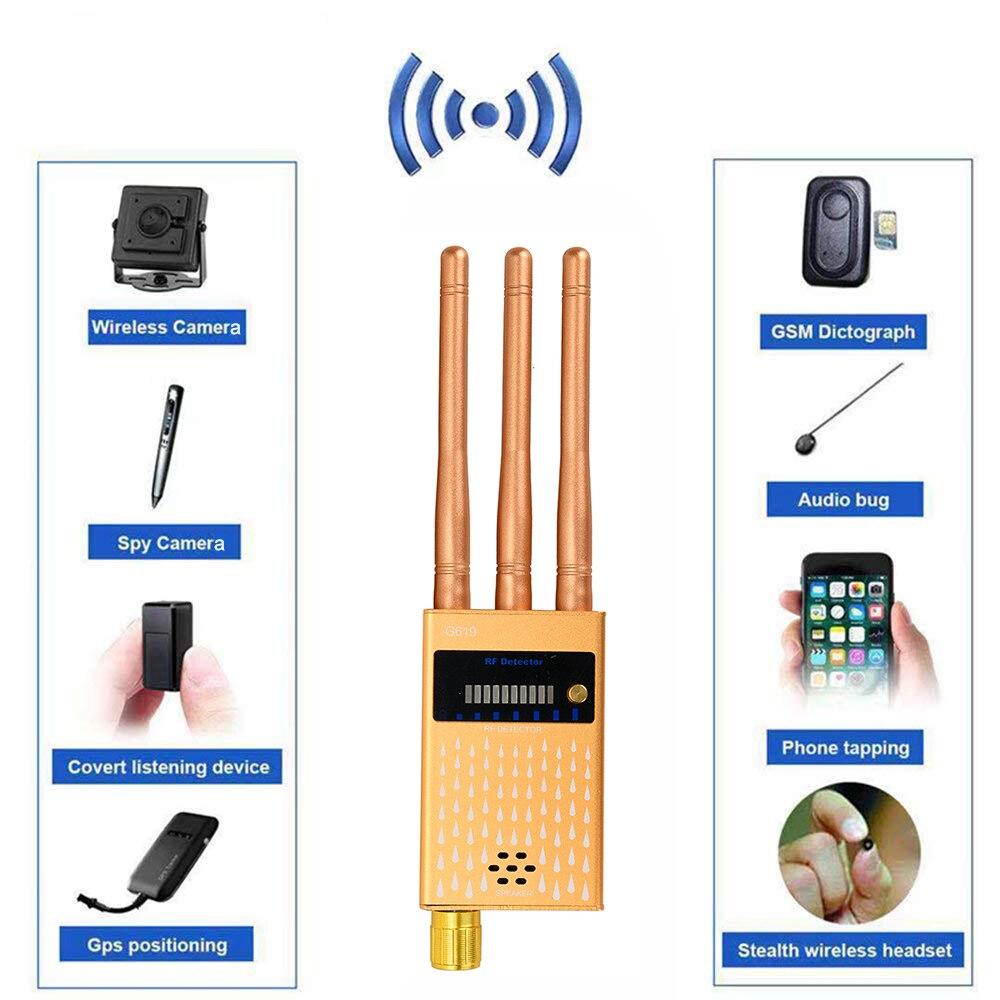 Três antenas rf sinal escondido câmera detector botão pinhole câmera detector de áudio bug gps gsm dispositivo rastreador frete grátis